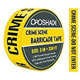 """Crime Scene Do Not Enter Tape, 3"""" x 330' Yellow Warning Barricade Tape, Bright Yellow/Black Print 3"""" Wide for High Visibility and Maximum Readability, Strongest & Thickest Tape For Danger Areas"""