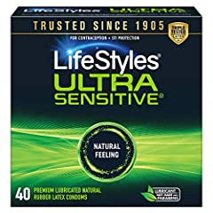 Feel more of her so she can feel more of you. Ultra Sensitive condoms enhance sensitivity for a more natural, pleasurable feel. Flared shape enhances sensitivity for a natural feel Specially lubricated for maximum pleasure Premium quality latex Low l...