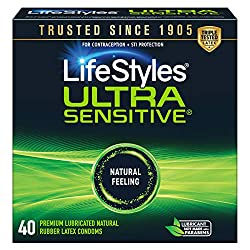 Thin and ultra sensitive condoms big pack.