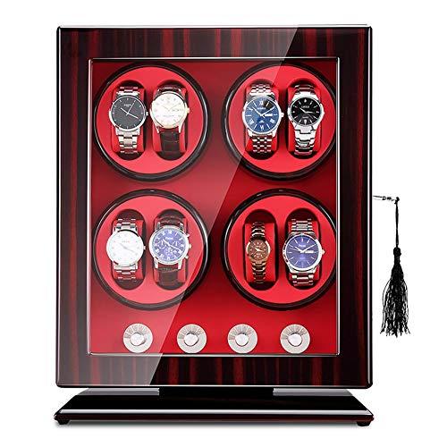 AYYEBO Watch Winder, Automatikuhren Uhrenbeweger, Watch Winder 8 + 0 Universal Uhren Aufbewahrungsboxen 5 Rotationsmodi Leiser Motor - Handgemacht