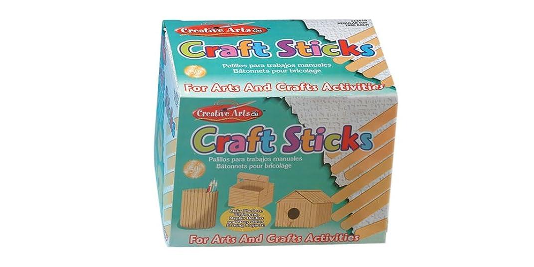 Creative Arts by Charles Leonard Craft Sticks, Regular Size, Natural, 4.5 x 0.37 Inch, 1000/Box (66510)