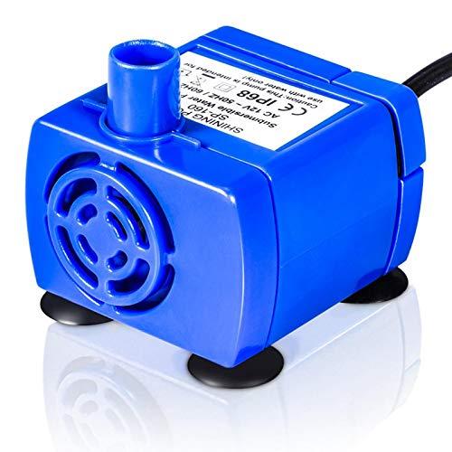 Atyhao Bomba para Fuente para Mascotas, Bomba de Agua eléctrica Sumergible silenciosa...