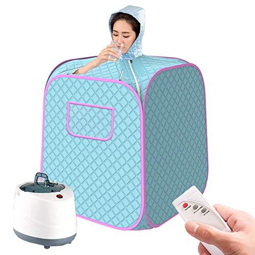 YJF-MRY Tragbare Persönliche Dampfsauna - Home Spa Dampfsauna-Kit, Tragbares Ganzkörper-Spa-Saunahutzelt Für Detox Weight Loss Body Slimming Bath Mit Ferngesteuertem Timer,Blau