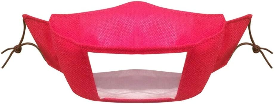 Mwzzpenpenpen Bandana with Clear Window Visible Expression for The Deaf and Hard of Hearing Elastic Ear Loops Outdoor Shield