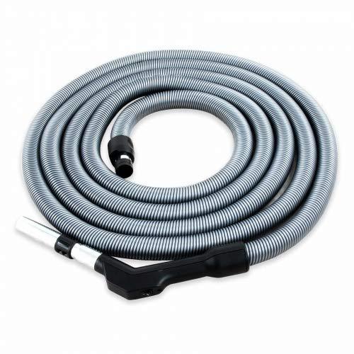 Zentralstaubsauger Schlauch Komfort, passend für viele Anbieter, Länge 12,2m, Öffnung Saugdose ca. 37 mm, Anschluss Staubsauger-Zubehör 32 mm