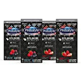 Pedialyte AdvancedCare Plus Electrolyte Powder Strawberry Freeze with 33% More Electrolytes and has PreActiv Prebiotics 0.6 oz Powder Packs, 24 Count