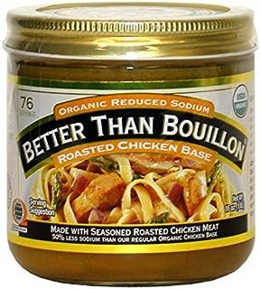 Better Than Bouillon Organic Roasted Chicken Base, Reduced Sodium - 2Pack (16 oz Each) Ykglcd