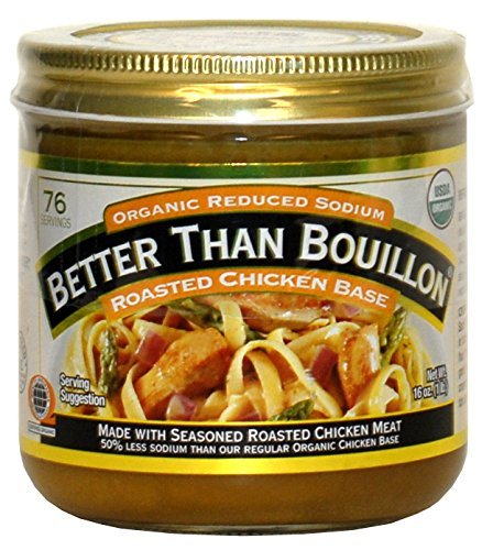 Better Than Bouillon Organic Roasted Chicken Base, Reduced Sodium - 2Pack (16 oz Each) Ykglcd