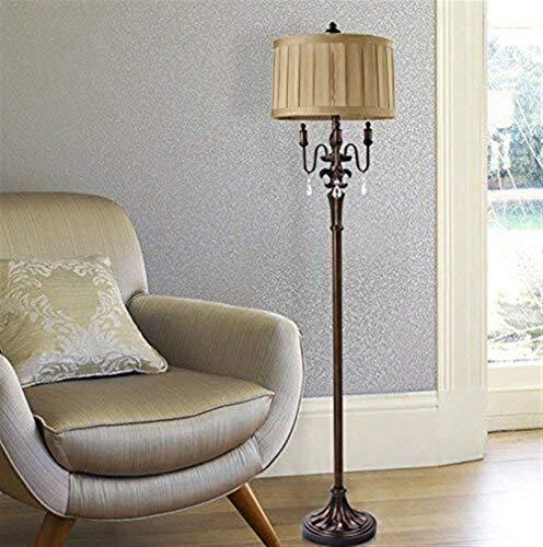 LKK-KK Lámparas de pie, llevada creativa americana Sala de estar Lámpara de piso, dormitorio estudian la lámpara de cabecera de estilo europeo y vertical de la lámpara de pie Eye-El cuidado de luz ver
