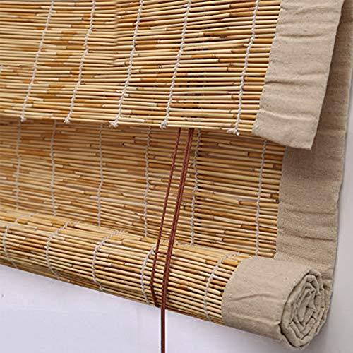 HOMRanger Rollo Rollo Vorhang, wasserdicht, mit Ösen, Retro-Rollo, Schilf, natur, W100xH300cm(39x118inch)
