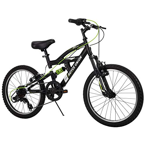 Royce Union Kids Aluminum Mountain Bike, Boys, Dual Suspension, 6-Speed 20inch, RTX