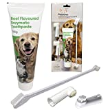 Petstoreo Dog Toothpaste Kit - Plus 3 Toothbrushes for Dogs & Cats. Vets