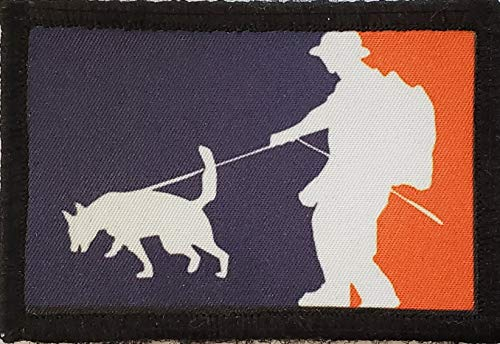 Major League K9 Morale Patch. 2x3' Hook Patch. Redhaededtshirts Made in The USA