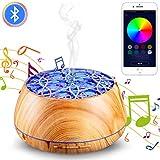 加湿器 アロマ加湿器 アロマディフューザー Bluetooth対応 音楽再生可能 YOUNGDO 小型 除菌 間接照明 空気清浄機 空焚き防止 オフィス乾燥対策 静音省エネ 木目調 卓上加湿器