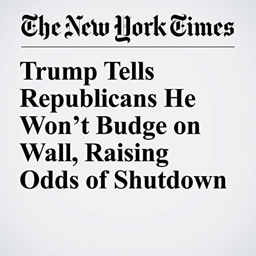Trump Tells Republicans He Won't Budge on Wall, Raising Odds of Shutdown audiobook cover art