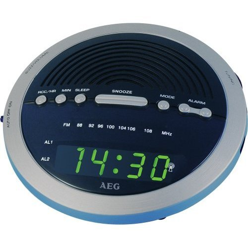 AEG MRC 4106 RC Uhrenradio funkgesteuert Silber