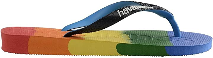 Infradito lgbt havaianas tongs top logomania multicolor rainbow 4146364.8269.390