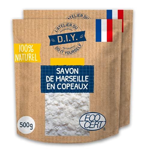 L'ATELIER DU DO IT YOURSELF- 2x500 g de Véritable copeaux de Savon de Marseille - 100% d'Origine Naturelle