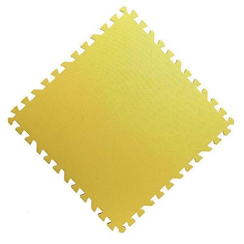 GHHZZQ Baby Puzzlematte PE Haushalt Tanzraum Krabbelmatte, 4 Farben, Mehrere Größen (Color : Yellow, Size : 60x60x1.2cm-10pcs)