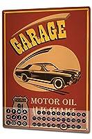 カレンダー Perpetual Calendar Garage Workshop Tin Metal Magnetic Gas Stations Vintage