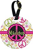 Peace Sign Round Luggage Tag (Personalized)