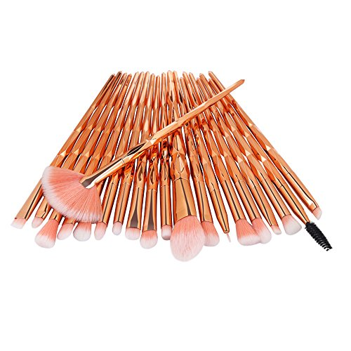 AMUSTER 20pcs Kosmetik Pinsel Make-up Pinsel Sets Verfassungs Bürsten Sat Kosmetik Komplett Eye Kit Make-up Pinsel Sets Kits Tools Werkzeuge Foundation Pinsel (One Size, B)