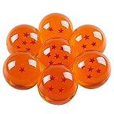 Bolas del Dragón, 7 PCS Dragonball 1 a 7 Estrellas con Caja de Regalo, Juego De 7 Bolas De Dragón con Estrellas Correspondientes, Cosplay, Decoración Regalo para niños, 35mm