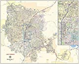 Las Vegas Laminated Wall Map (48' Wide x 40' high)