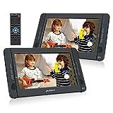 Pumpkin Lecteur DVD Portable Voiture 2 ecrans d'appuie-tête 10.1 Pouce Pour Enfants supporte USB SD MMC Autonomie de 5 Heures avec Sangle de Fixation dans Voiture (1 Lecteur et 1 Moniteur)