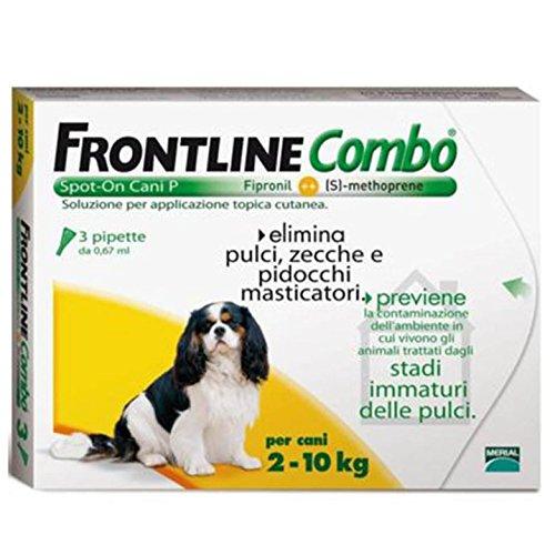 FRONTLINE COMBO CANE ANTIPARASSITARIO ANTIPULCI 3 PIPETTE 2-10 KG