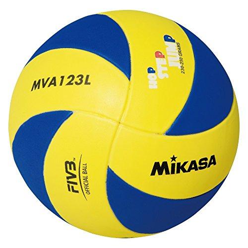 MIKASA UNDER13, Pallone Volley Unisex Bambino, Blue Giallo, REGOLAMENTARE