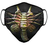 Alien Movie Facehugger - 100% Cotton Face Mask Covering - Washable - (Sizes: Child, Youth, Women, Men) - Made in USA (Women's Size) Black