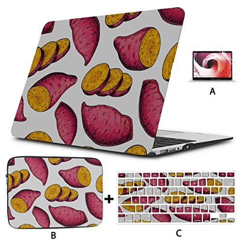 MacBook Air Laptop Cover Sweet Mixed Grain Creative Potato New MacBook Air Case Hard Shell Mac Air 11'/13' Pro 13'/15'/16' with Notebook Sleeve Bag for MacBook 2008-2020 Version