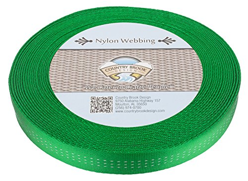 Country Brook Design 1 Inch Hot Green Climbing Spec Tubular Nylon Webbing, 10.