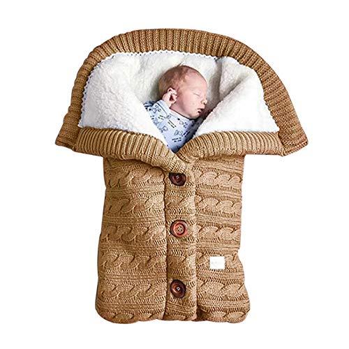 XIANGBEI Saco de dormir para bebé, consecuencias seguras, bonito saco de dormir para niña, para recién nacidos, envoltura de punto