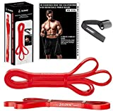 SLOVIC Resistance Band/Pull Up Band/Resistance Bands/Exercise Band 42 Inch with Door Anchor for Calisthenics with Physical Booklet with 30 Exercises.(RED(15-35 LBS)).