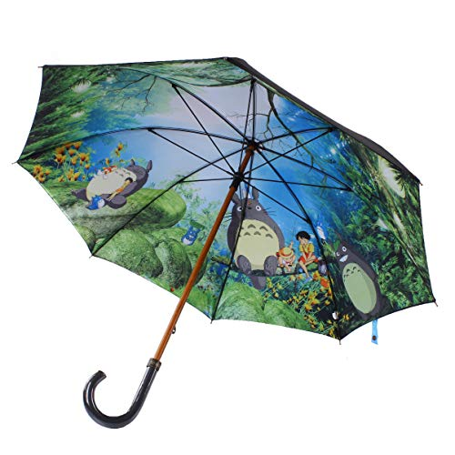 Große Anime Ghibli Lange Totoro Regenschirm Doppelschichten Cartoon Regenschirm Totoro Frau Spart Chuva Totoro Parapluie Für Totoro Fan