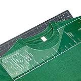 Regla de la Camiseta, Regla de la Camisa para alineación de Vinilo, Tshirt Herramienta de medición para la Prensa de Calor, Tshirt Centener Herramienta, Tshirt Guía de la Regla para Vinilo,S