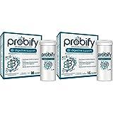 Probióticos Probify Digestive Support, Sistema Digestivo, con Lactobacillus plantarum y calcio, 30 cápsulas + Probióticos Probify Digestive Support, Sistema Digestivo, 15 cápsulas