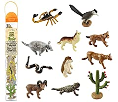 SET OF 12 DESERT-DWELLING FIGURES – It takes special adaptations to survive in the scorching environment of a desert. Discover some of the amazing creatures that call the desert home with our Desert TOOB, including an explorer, horned lizard, budding...