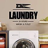 WERWN Hora de lavandería, calcomanía de Pared, señal de Lavado y Plegado,...