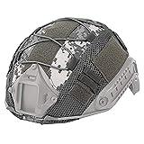 ATAIRSOFT サバゲー メッシュヘルメットカバー ランヤード ACU