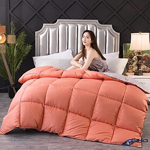 Edredones Cama 135,Abajo Es Cama King Size-220x240cm 3000g_Gris Naranja