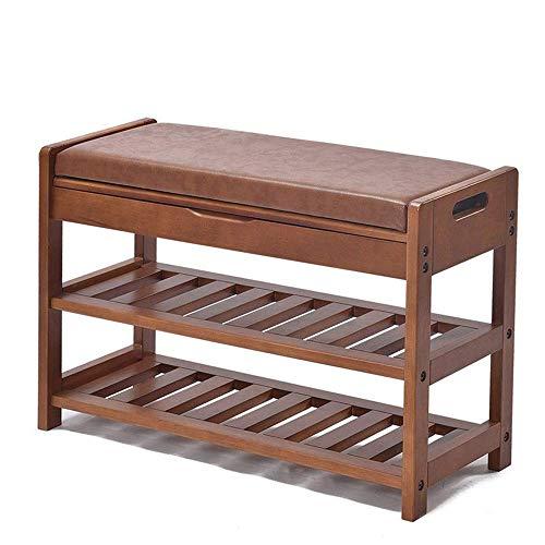 ShiSyan Zapato bastidores de zapatos de almacenamiento de madera armario rack banco Pasillo de almacenamiento de madera con ascensor hasta la tapa - Brown ahorro de espacio Fácil Ensamble (Color: Marr