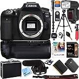 Canon EOS 90D 32.5MP APS-C CMOS Sensor Digital SLR 4K Camera (Body) + Accessories Kit (15 Items)
