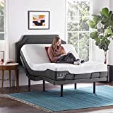 LUCID L300 Adjustable Bed Basewith LUCID 12 Inch Memory Foam Hybrid Mattress-Queen