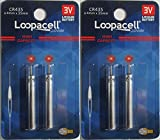 4 Loopacell CR435 BR435 435 Lithium Pin Type...