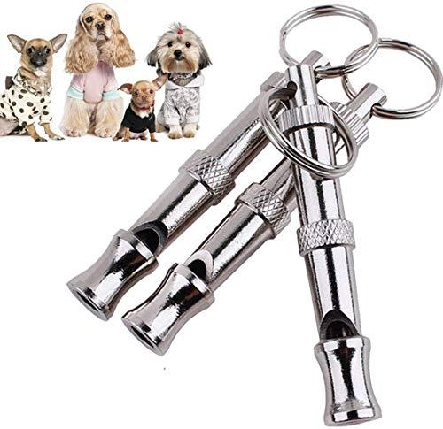Silbato N\A para evitar ladrar perros con frecuencia ajustable herramienta de entrenamiento de perro, 3 piezas con correa de cordón