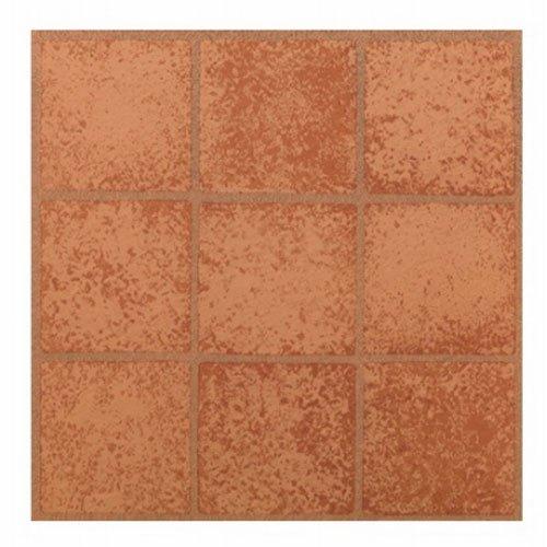 MAX KD0203 - Baldosa de vinilo para suelos de Crimson cuadrados, 30,48 x 30,48 cm
