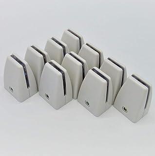 パーテーション台座 3-6mm厚対応 プラスチック製 ネジ止め設置型 衝立スタンド ホワイト (取付用レンチ付) 10個セット
